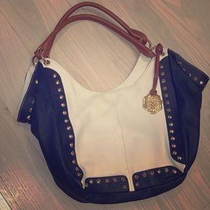 Gorgeous nautical leather Vince Camuto hobo bag